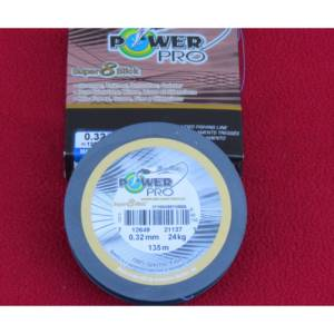 tresse power pro spectra super 8 slick 135m-0.32mm-24 kgs