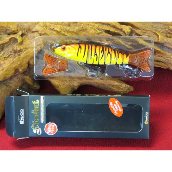 leurre biwaa strout 5.5-14cm red tiger