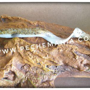 savagear real eel 15cm 12grs olive sparkle pearl