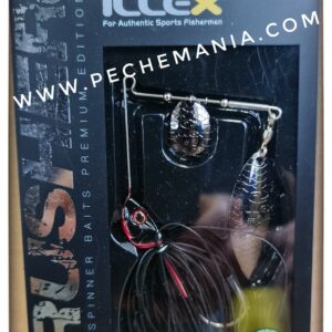 illex crusher spinnerbait black shadow